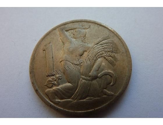 Československo - mince 1 koruna 1938