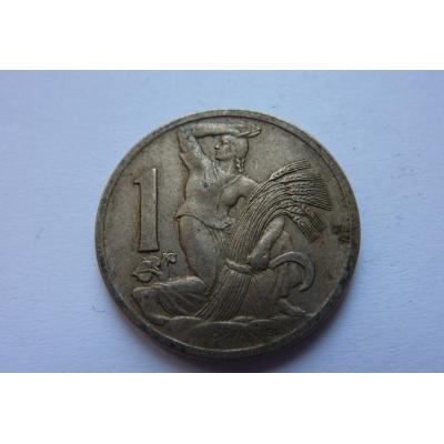 Československo - mince 1 koruna 1937