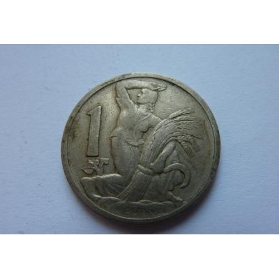 Československo - mince 1 koruna 1929