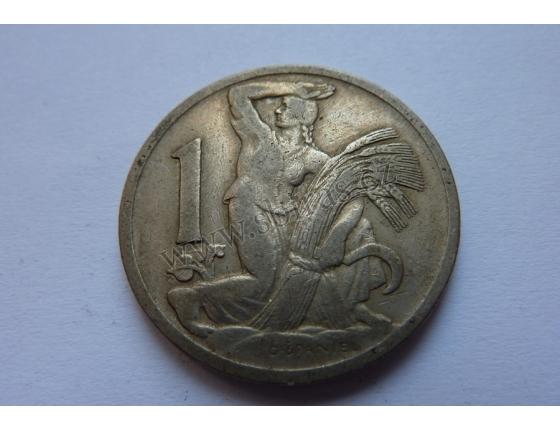 Československo - mince 1 koruna 1924
