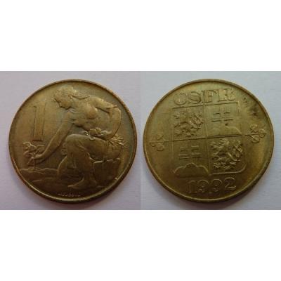 1 koruna 1992