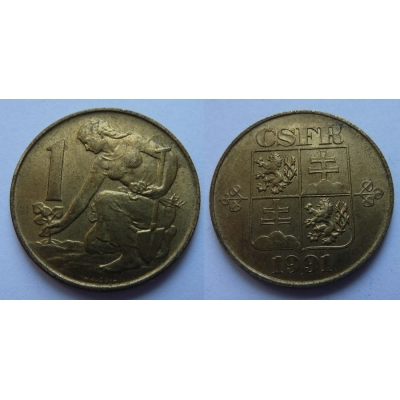 1 koruna 1991