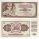 Jugoslávie - bankovka 10 dinara 1968