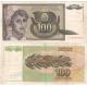 Jugoslávie - bankovka 100 dinara 1991
