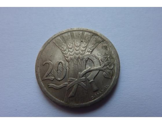 20 haléřů 1938