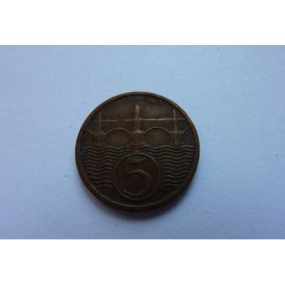 Československo - mince 5 haléřů 1931