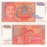 Jugoslávie - bankovka 50 000 dinara 1994, série AA