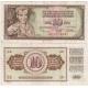 Jugoslávie - bankovka 10 dinara 1978