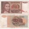 Jugoslávie - bankovka 10 000 dinara 1992