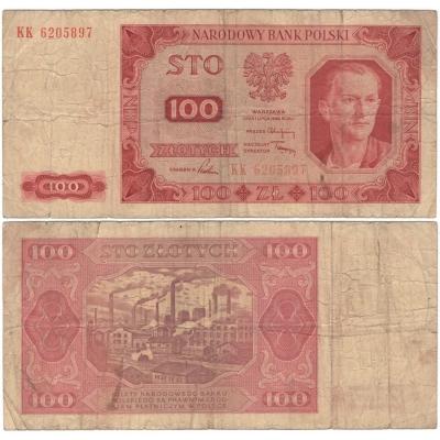 Polsko - bankovka 100 zlotych 1948