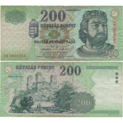 Maďarsko - bankovka 200 forintů 2003