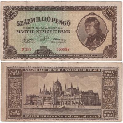 Maďarsko - bankovka 100 000 000 pengö 1946