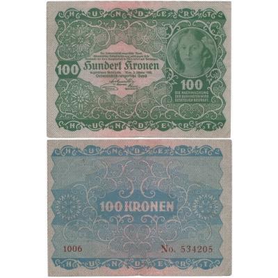 100 Kronen 1922