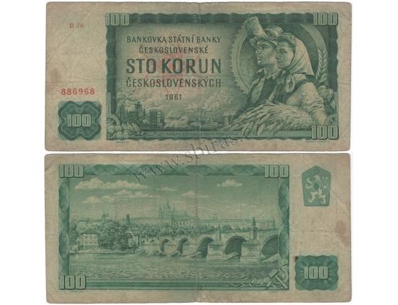 100 korun 1961, série B