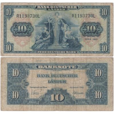 Německo - bankovka 10 marek Rosenberg 1949