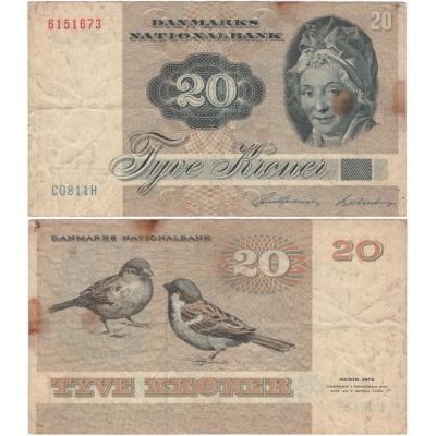 Dánsko - bankovka 20 kroner 1972