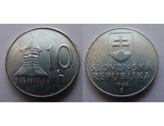 Slovensko - 10 haléřů 1994