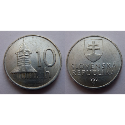 Slovensko - 10 haléřů 1993