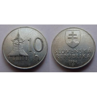Slovensko - 10 haléřů 1996