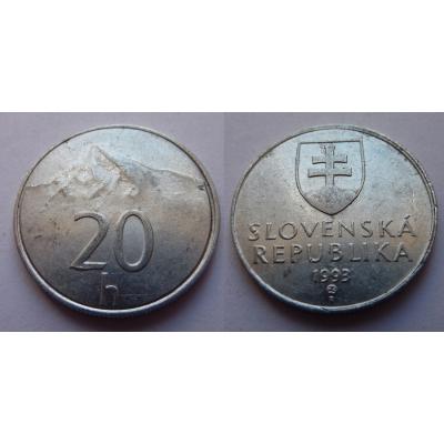Slovensko - 20 haléřů 1993