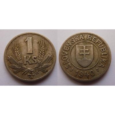 Slovenský štát - 1 koruna 1940