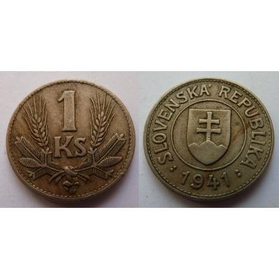 Slovenský štát - mince 1 koruna 1941