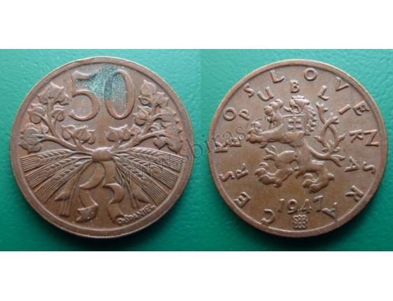 50 haléřů 1947