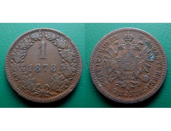1 krejcar 1878