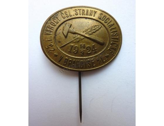 25. výročí Československé strany socialistické v Brandýse 1924