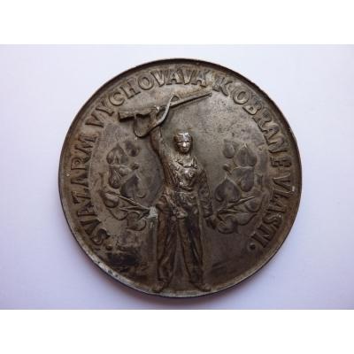 Svazarm - vychovává k obraně vlasti, velká cínová medaile