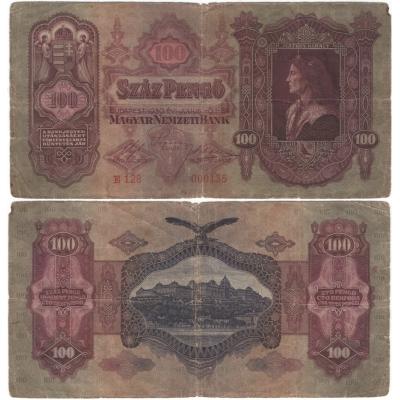 100 pengö 1930, platná na našem území