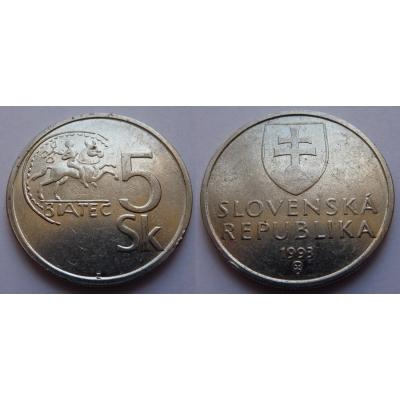 Slovensko - 5 korun 1993