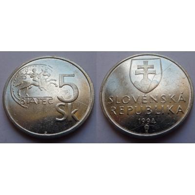 Slovensko - 5 korun 1994