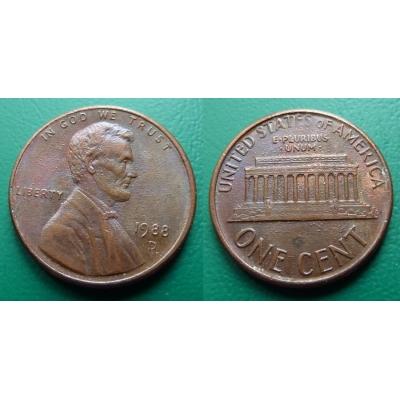 Spojené státy americké - 1 cent 1988 D