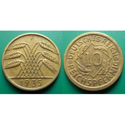 Německo - 10 Reichspfennig 1935 F