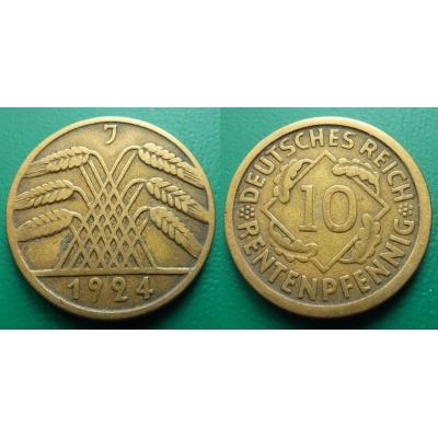 Německo - 10 rentenpfennig 1924 J