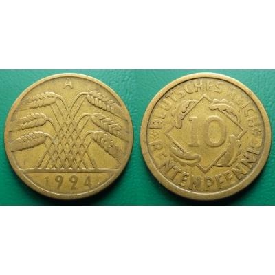Německo - 10 rentenpfennig 1924 A