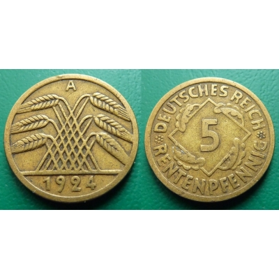 5 Rentenpfennig 1924 A