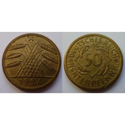 Německo - 50 rentenpfennig 1924 A