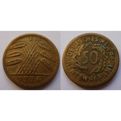 Německo - 50 rentenpfennig 1924 E