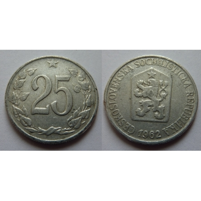 25 haléřů 1962