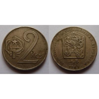2 koruny 1981