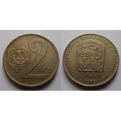 2 koruny 1980