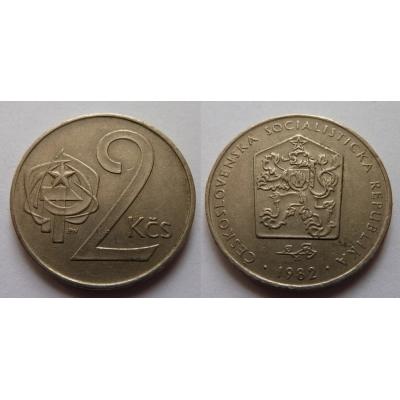 2 koruny 1982