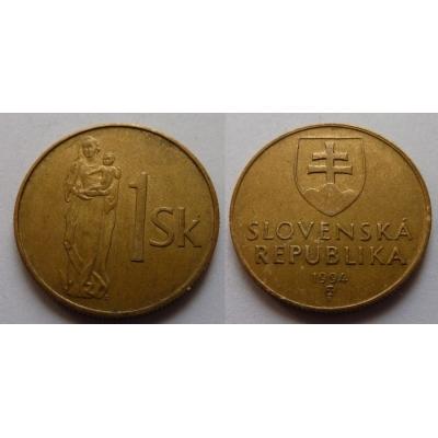 Slovensko - 1 koruna 1994