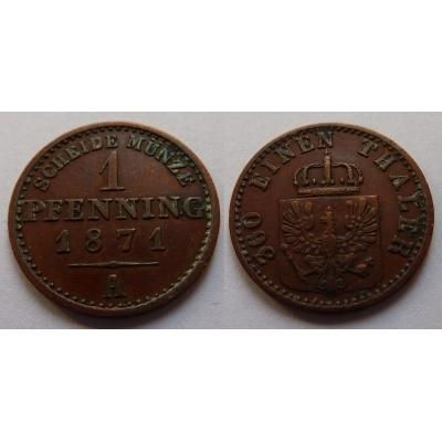 Prusko - 1 pfennig 1871 A