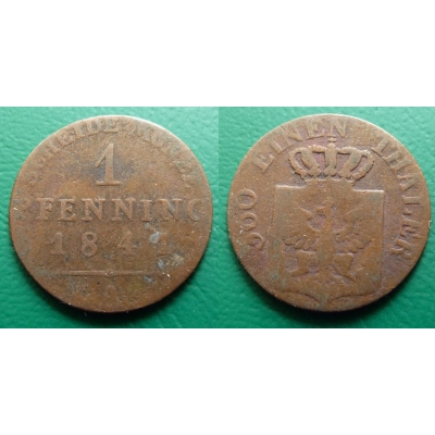 Prusko - 1 pfennig 1841