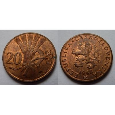 20 haléřů 1948