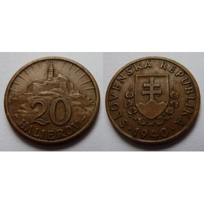 Slovenský štát - 20 halierov 1940