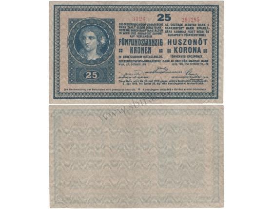 25 korun 1918